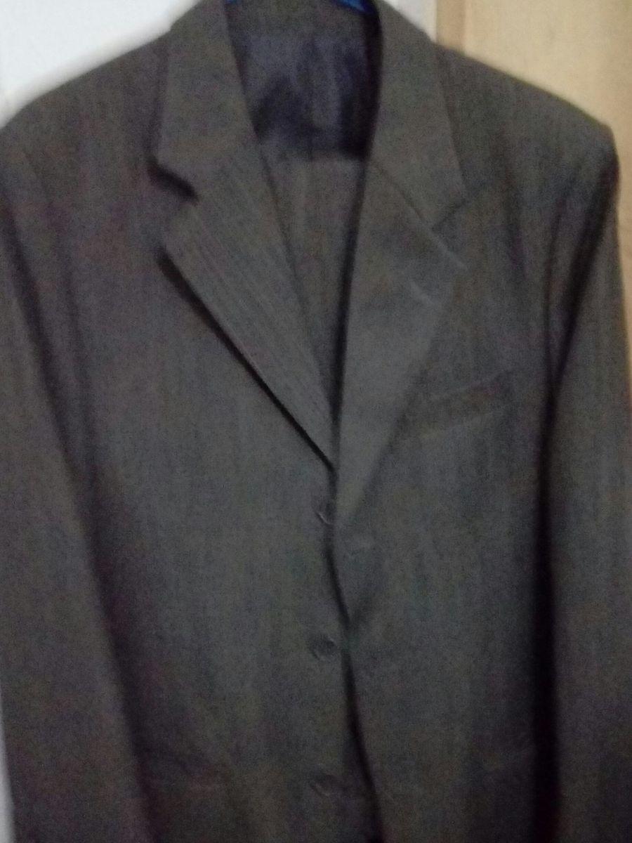 conjunto de terno da pentel 46 cor chumbo com leves riscos cinza - ternos  pentel b8adf95f15