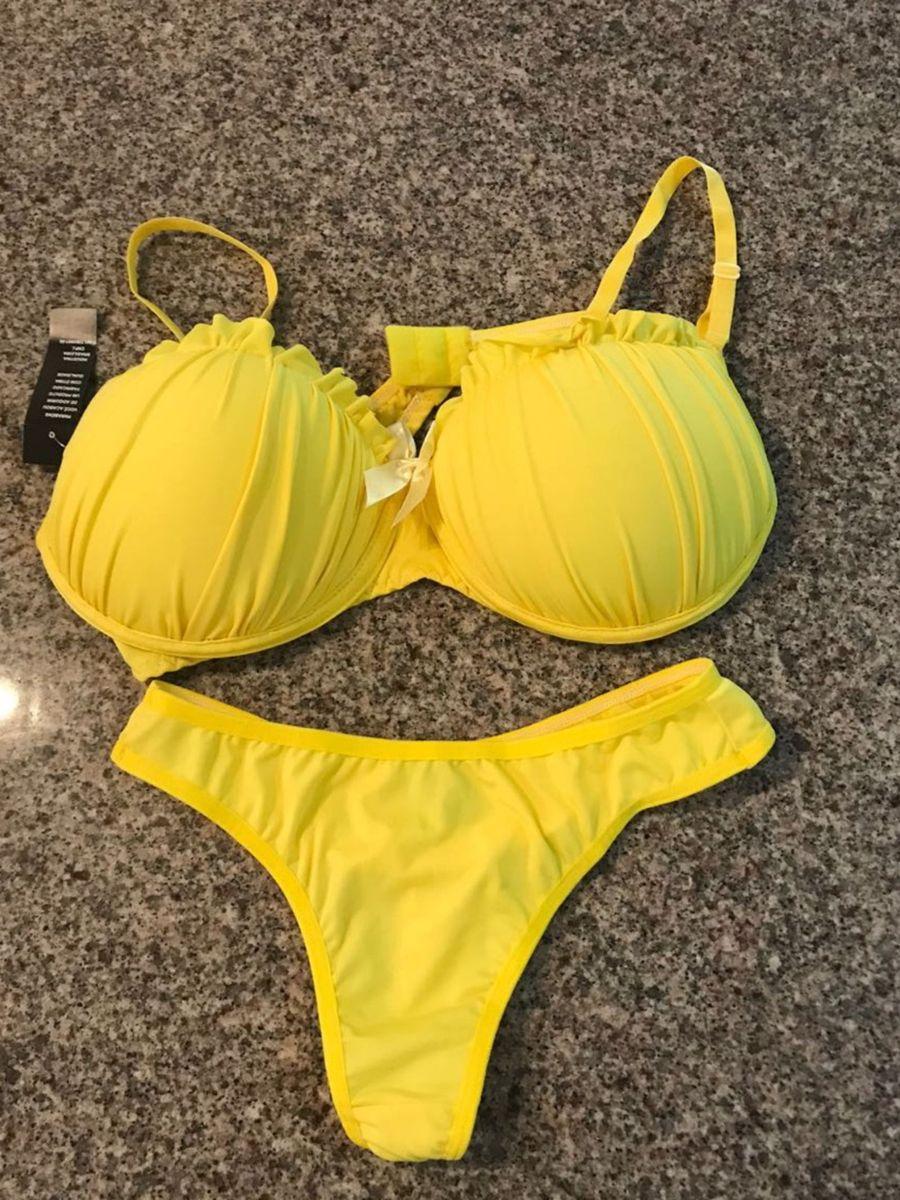82f7c2f69d8 conjunto g amarelo novo de lingerie - lingerie sem marca