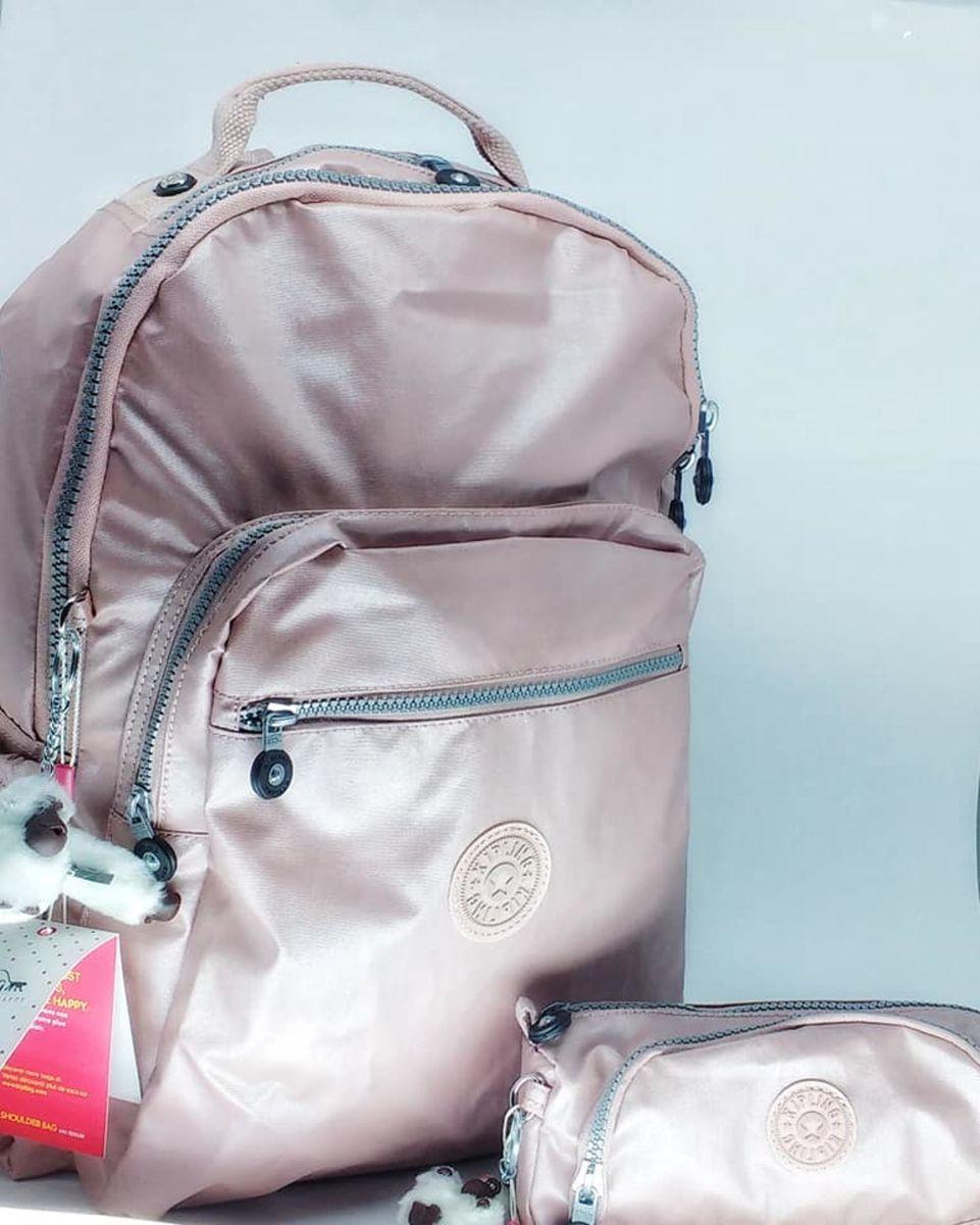 Mentalmente Patentar accesorios  Conjunto Mochila Escolar Seoul Go e Estojo Cute Rose Gold Kipling | Mochila  Feminina Kipling Nunca Usado 29235110 | enjoei