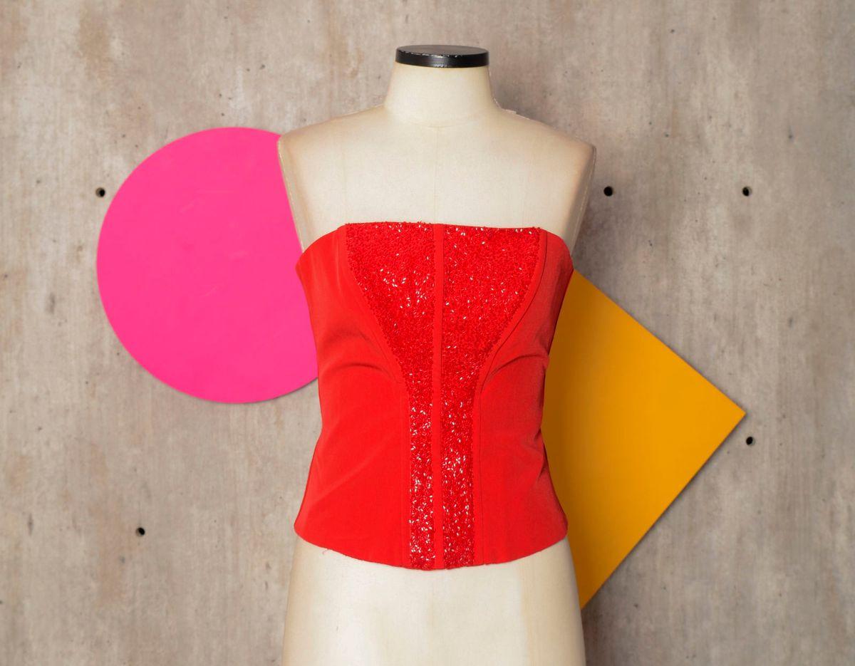 conjunto vermelho - blusas sem marca