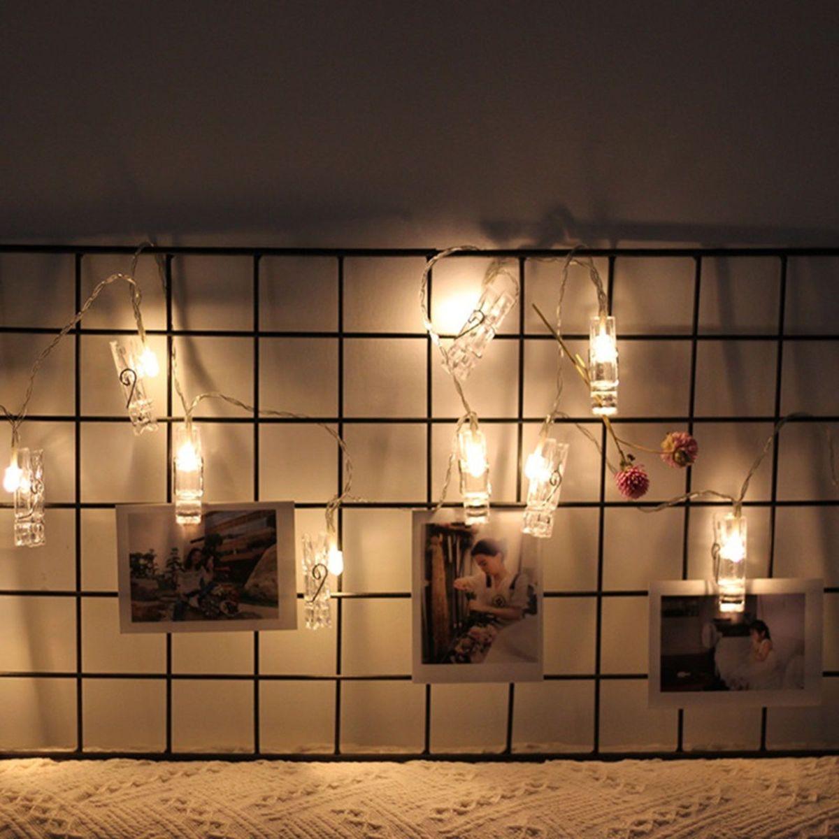 cordão de luz led pregadores - decoração tudo it