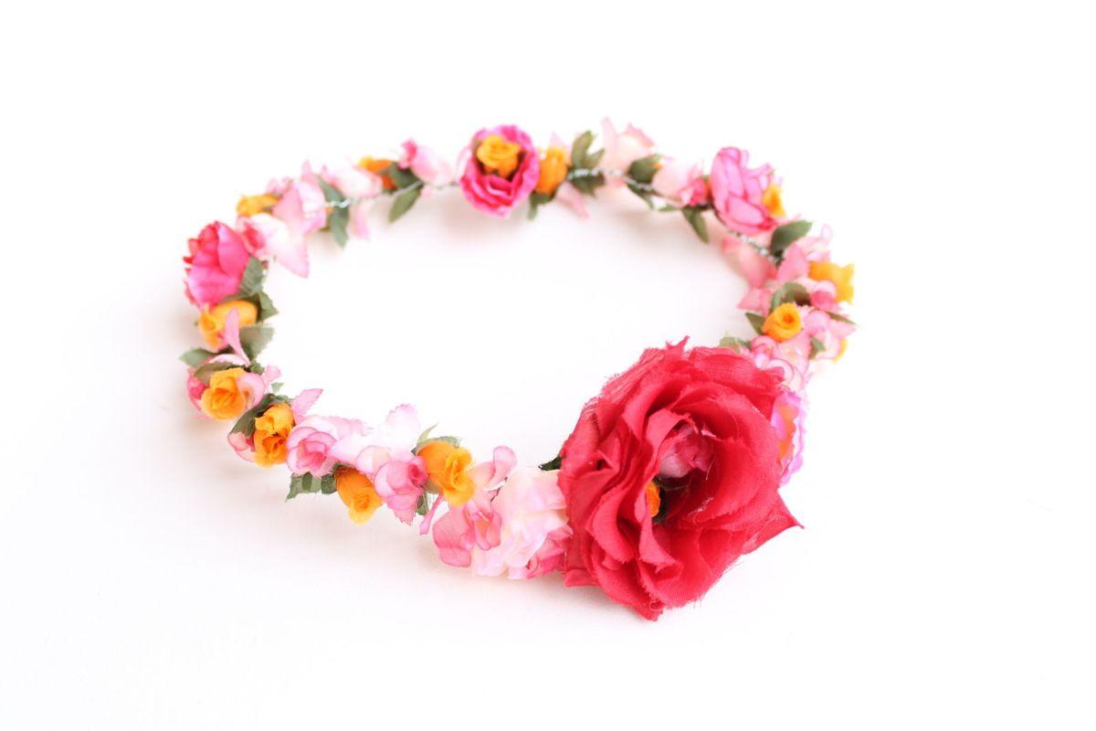 coroa de flores colorida - headband - cabelos grm bijuterias 5ae0c2bf026