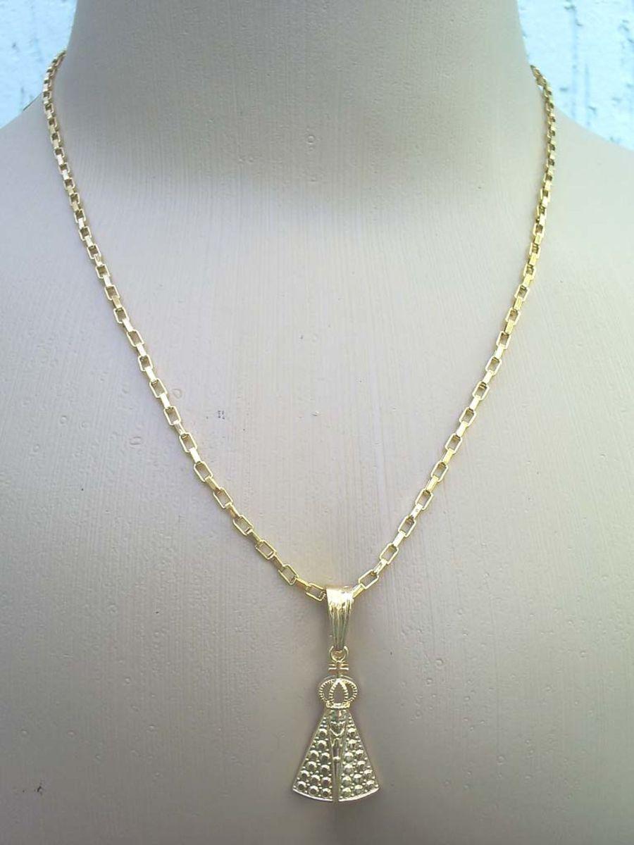 5966d89d57e corrente cartier + pingente nossa senhora folheada ouro 18k - jóias sem  marca