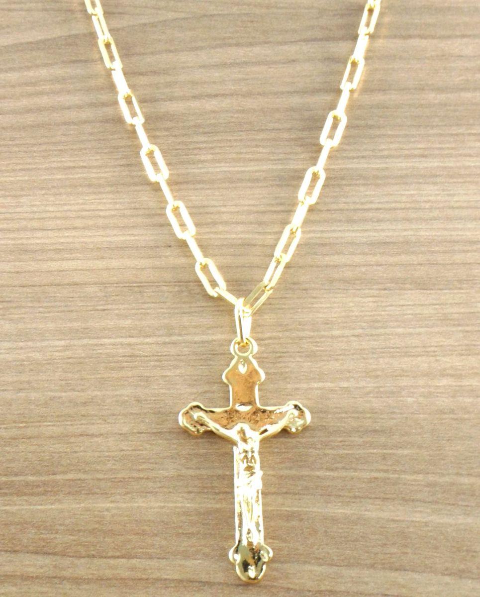 ada89feeb09 Corrente Cordão Cartier Masculino 60cm + Crucifixo