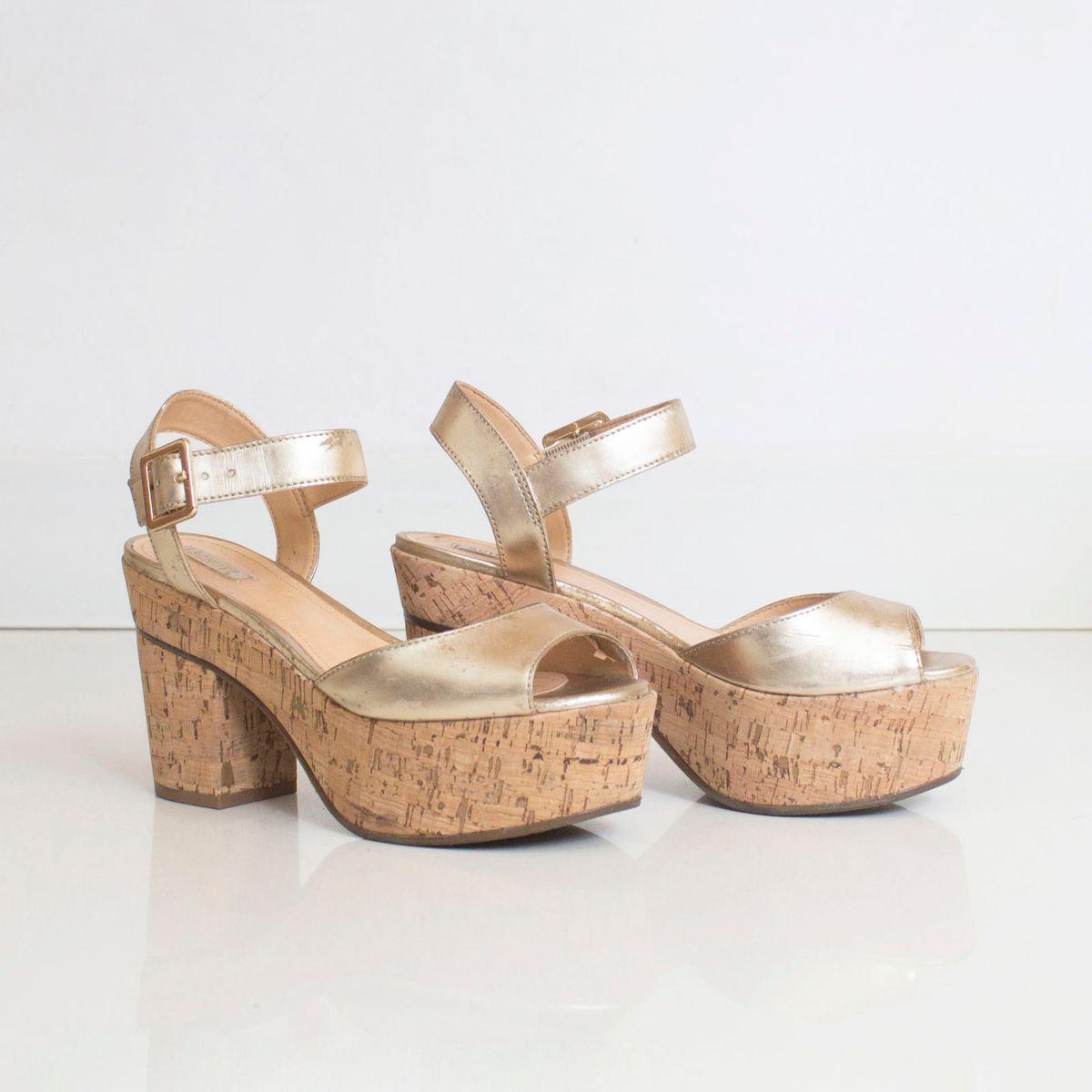 cortiça & ouro schutz - sandálias schutz