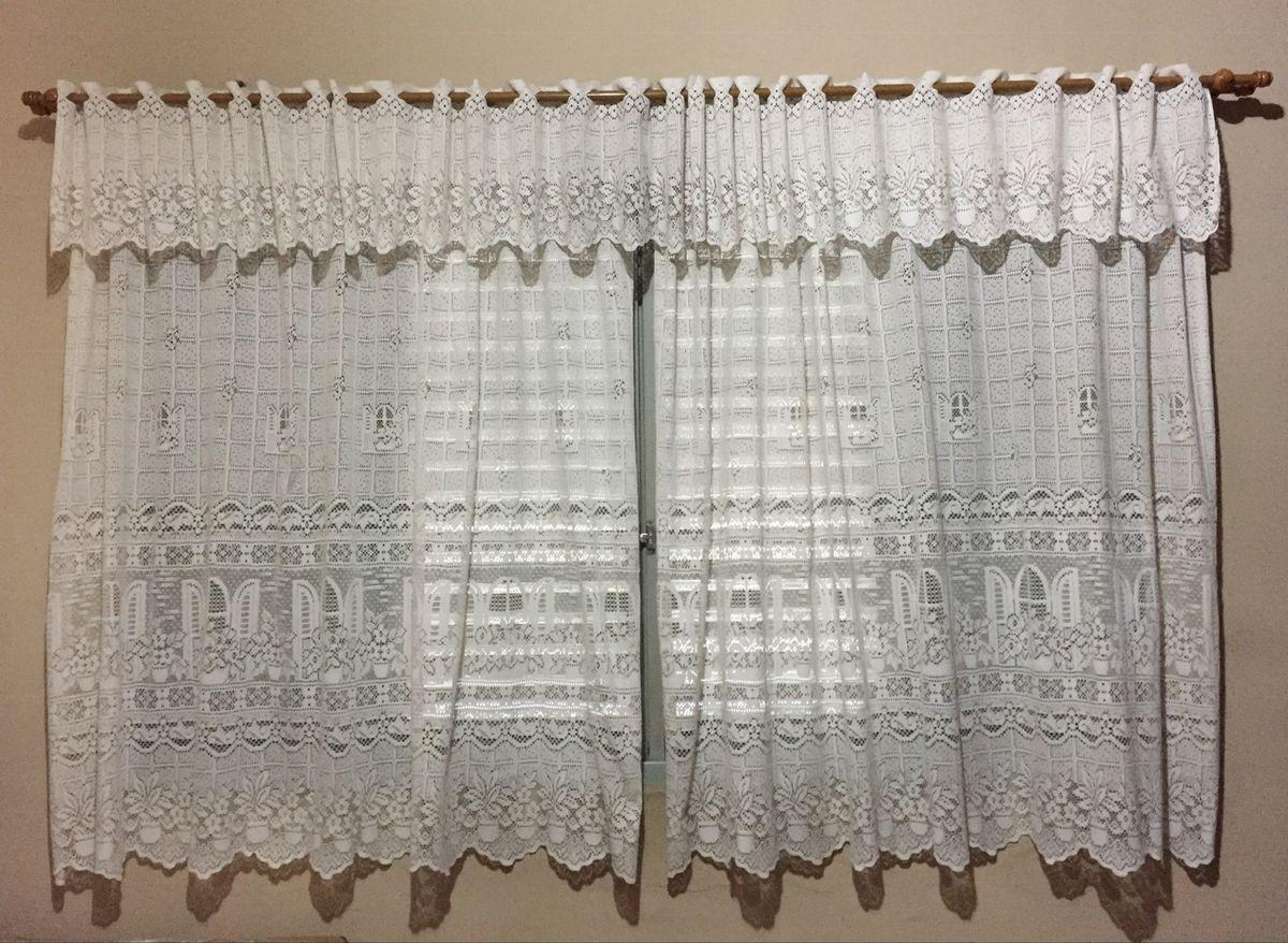 cortina de renda (somente a renda) - decoração sem marca