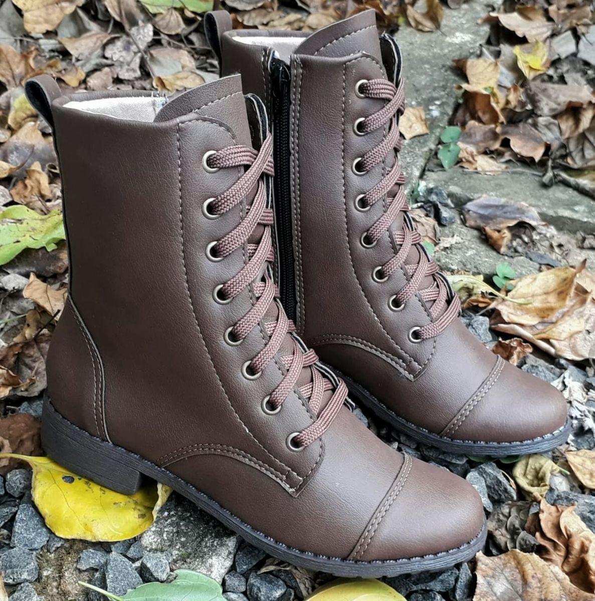 963bf3c088 coturno café cano médio salto baixo 38 - botas diva sapatilhas