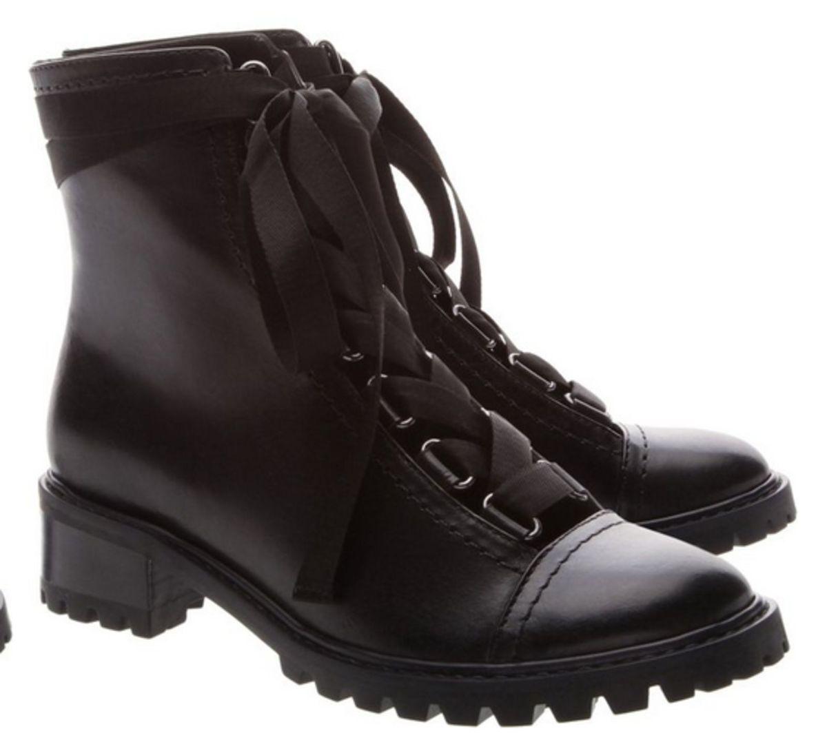 6eb8cf760 Coturno Sola Tratorada Lace-up Black | Bota Feminina Schutz Nunca ...