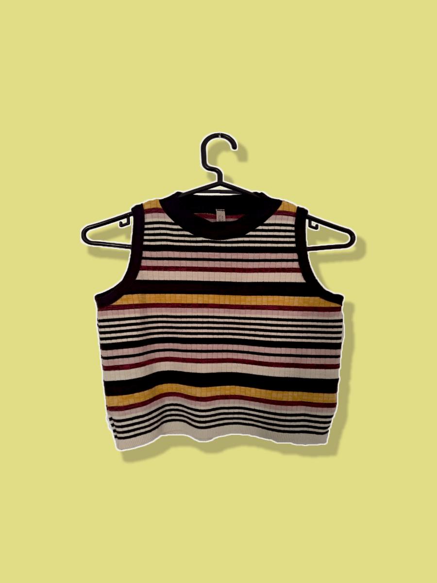cropped listrado vintage - camisas sem marca