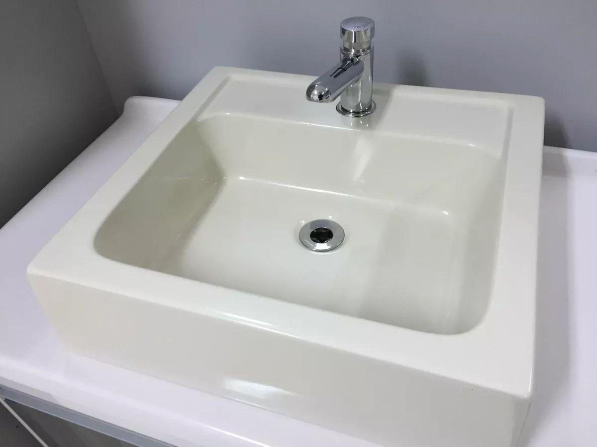 Cuba Banheiro Pia Bancada Bege Chique Item De Decoracao Toleato Nunca Usado 30380378 Enjoei