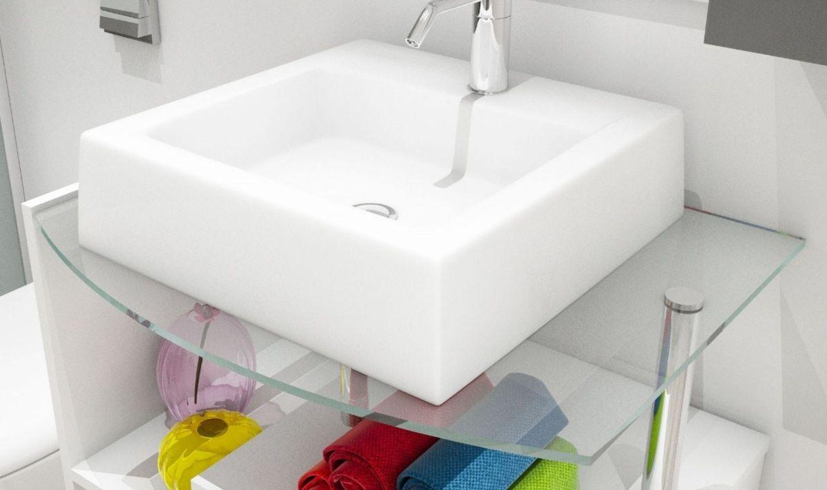 Cuba Pia Banheiro Quadrada Branca Linda Item De Decoracao Toleato Nunca Usado 30379915 Enjoei