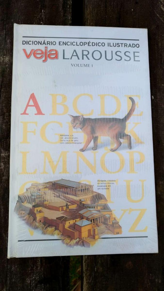 dicionário enciclopédico ilustrado veja volume 1 - livraria veja