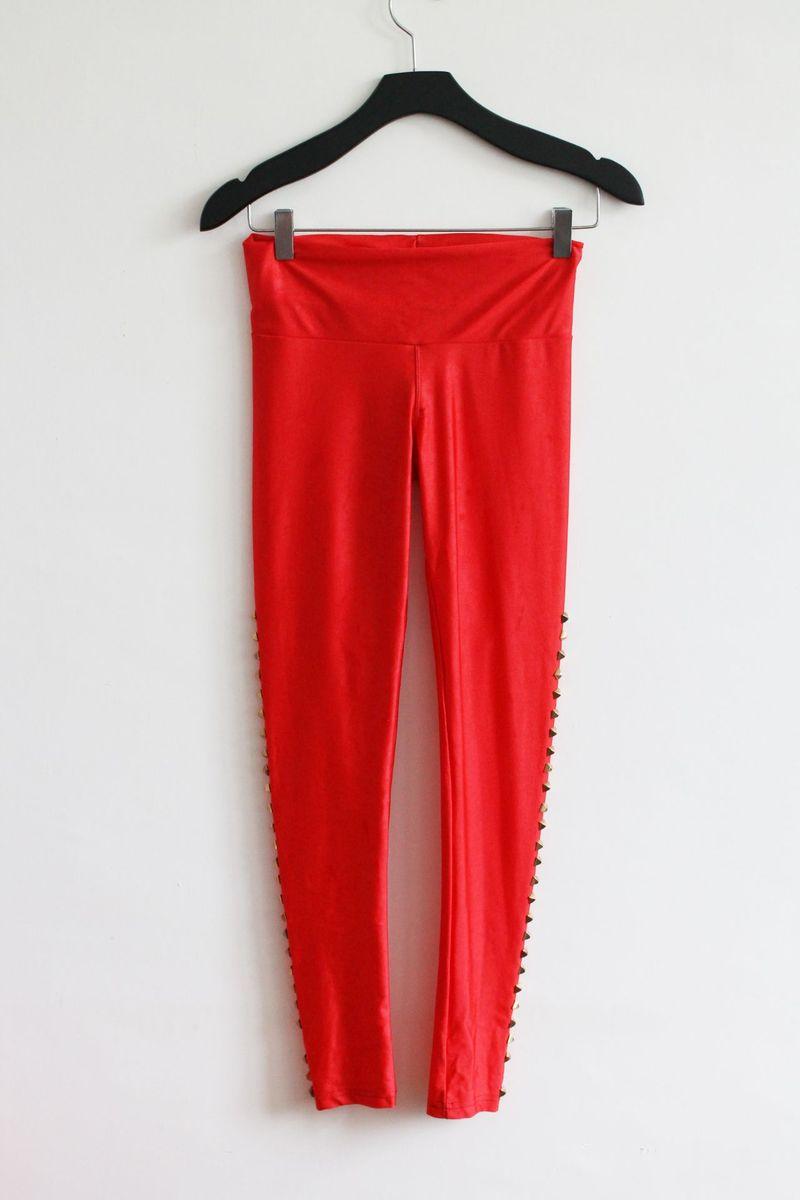 disco pants com rebites - calças sem marca