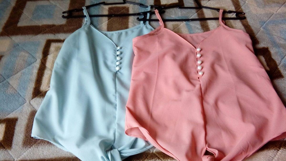 duas businhas de alcinha - blusas sem marca