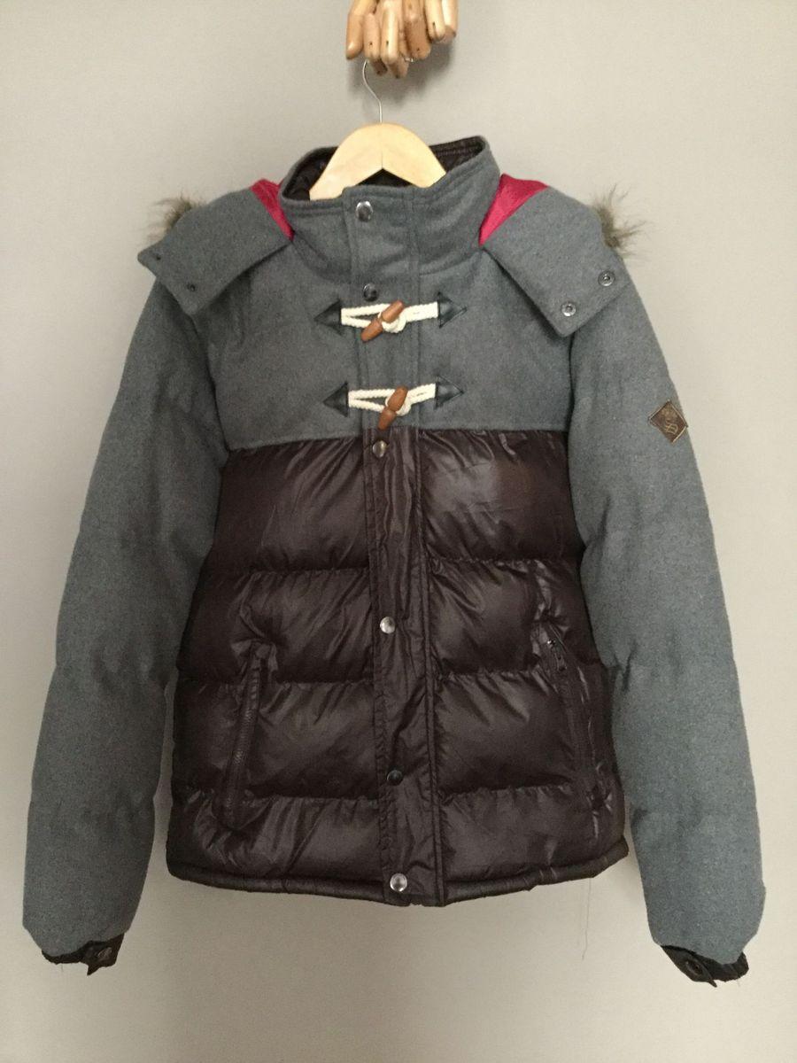 jaqueta de nylon e lã - duffel coat style - casacos soulstar