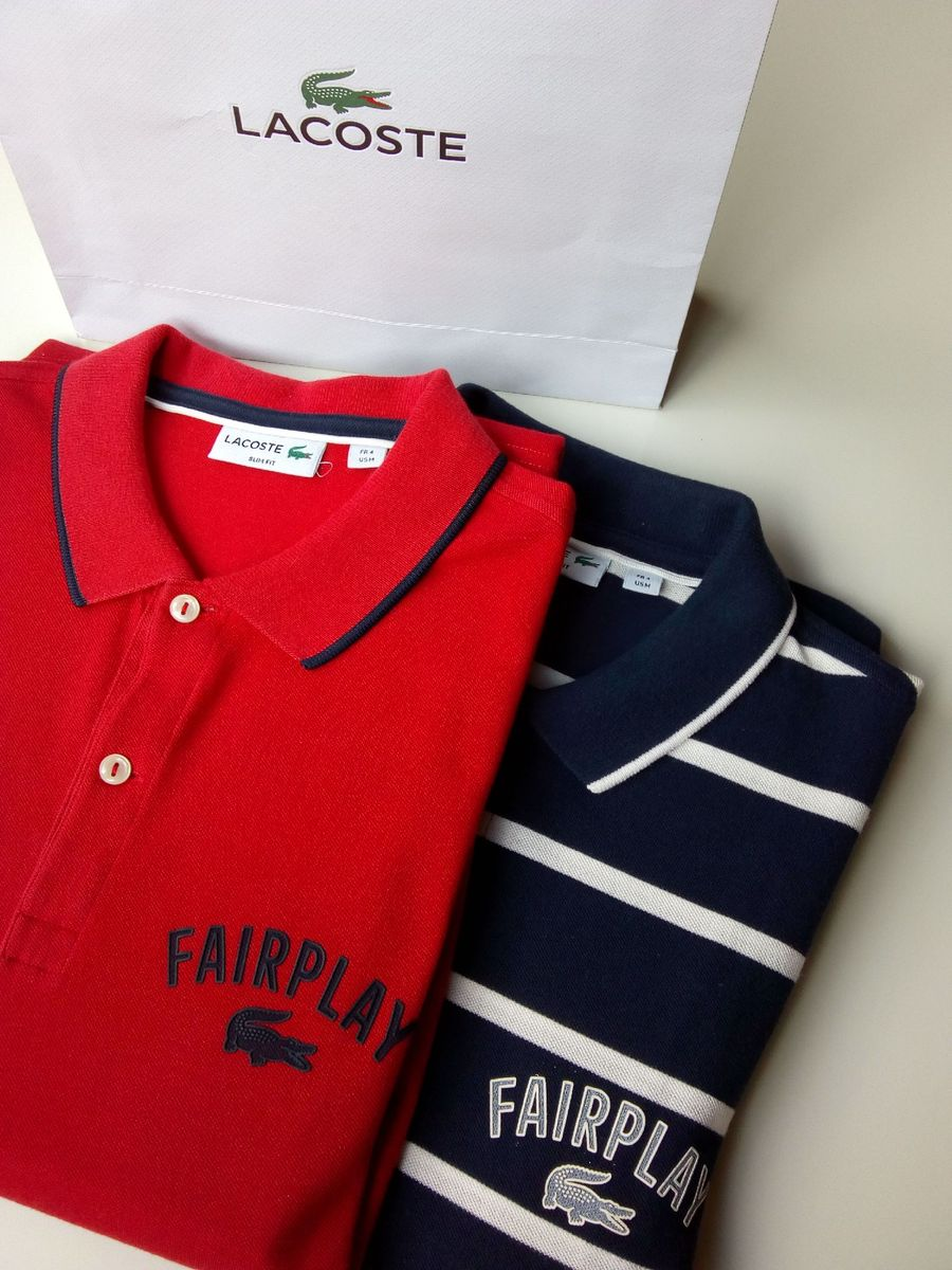 dupla lacoste fairplay - camisas lacoste