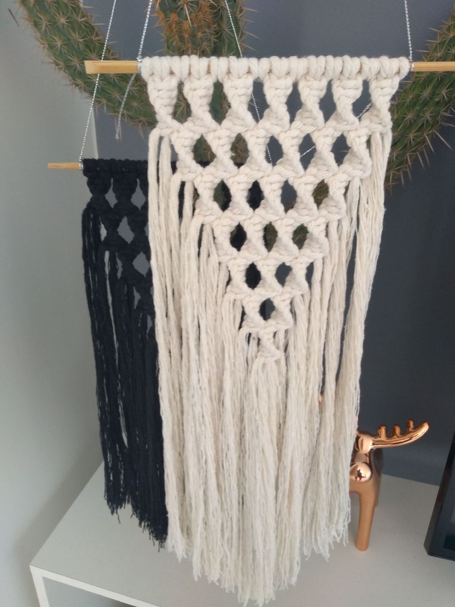 duplinha macramé - decoração handmade