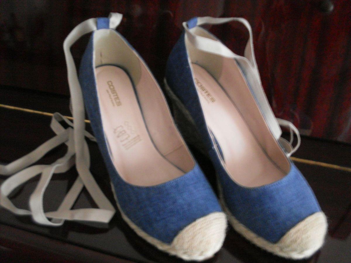 ad39335cf Espadrilhe Salto Anabela Azul Marinho | Sapato Feminino Nunca Usado ...