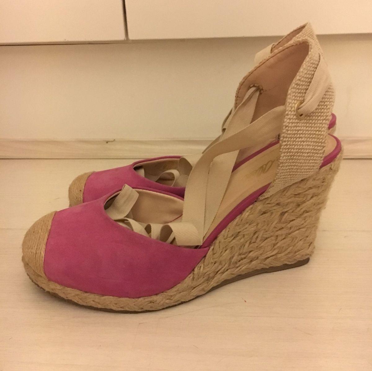 espadrille de chamois pink e corda - sandálias jorge-alex