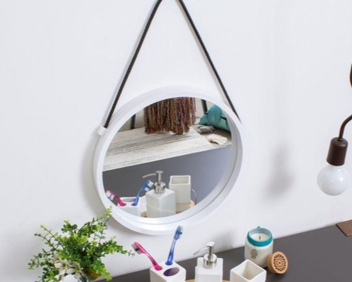 espelho redondo prumo - decoração oppa design
