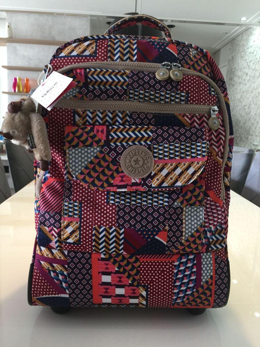 e0d1fbc8d espetacular mochila com rodinha kipling nova. top de linha! - malas kipling