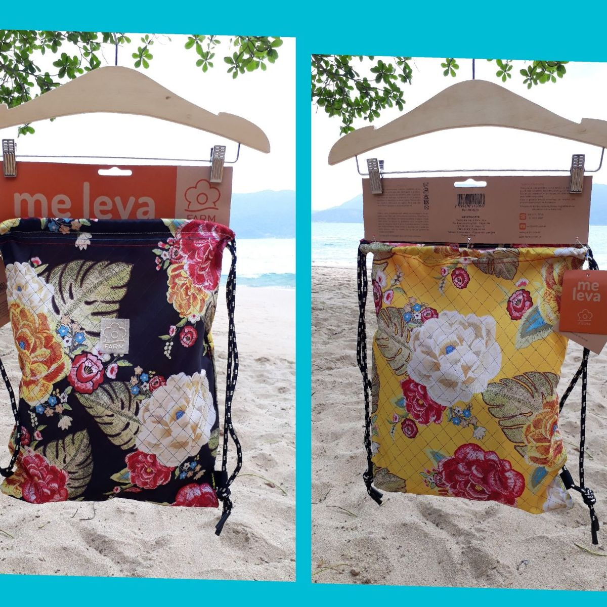 5024904d0f5d Farm Mochila Praiana Chita Preta | Moda Praia Feminina Farm Nunca Usado  30948058 | enjoei