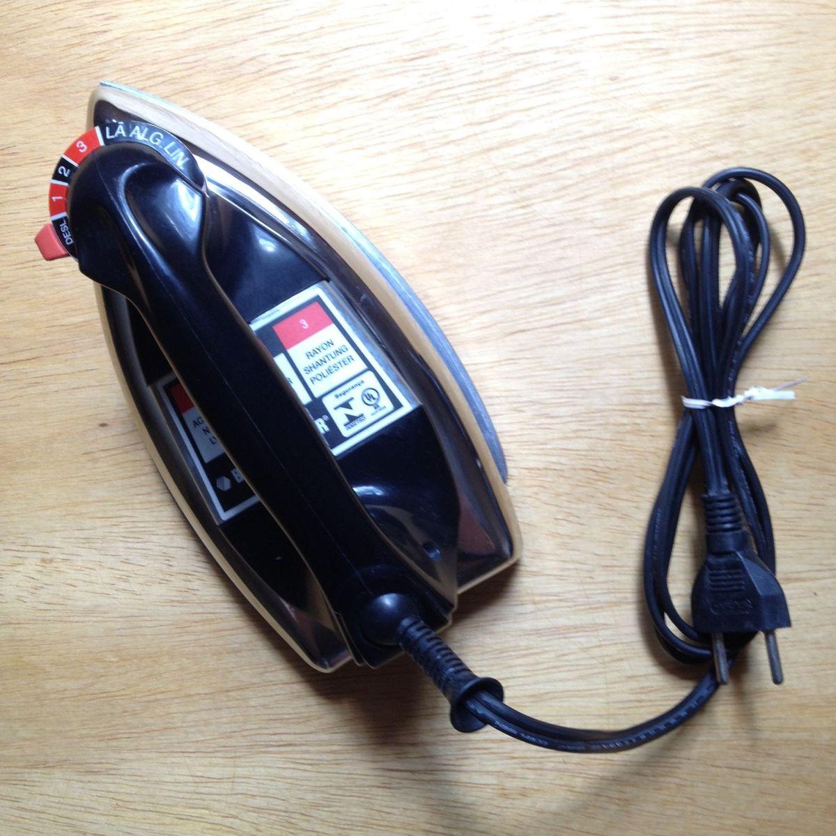ferro a seco - eletrodomésticos black&decker
