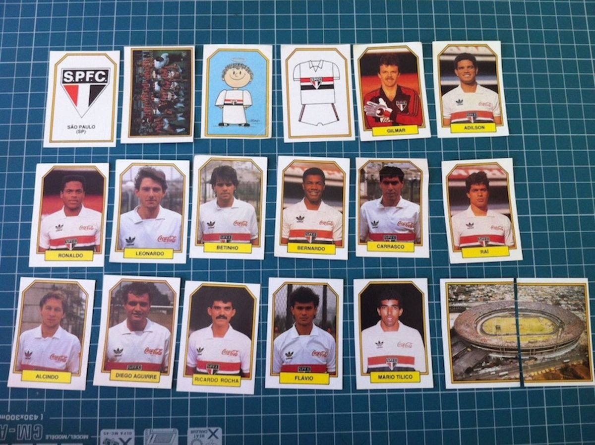 84fc04d56a figurinhas são paulo do campeonato brasileiro de 1990 - vintage e retrô são  paulo futebol clube