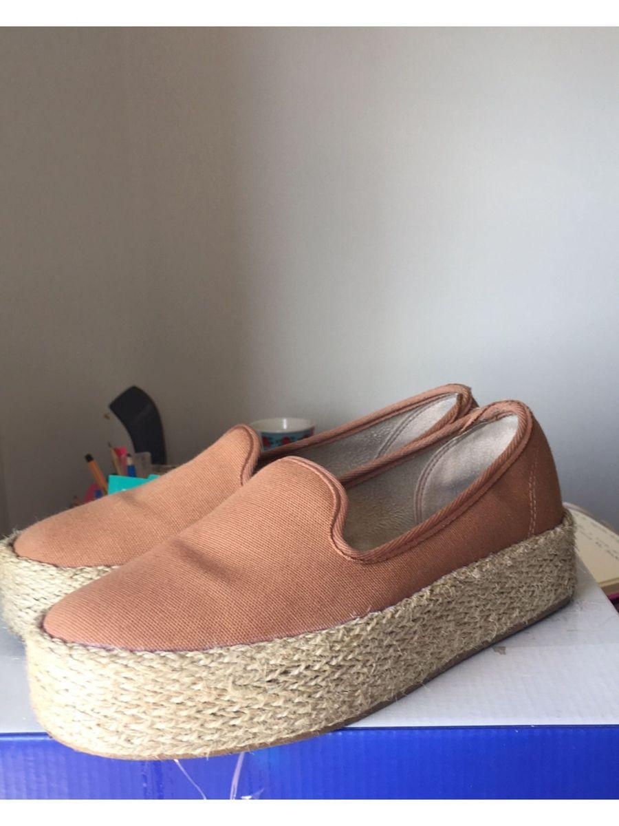 flat form caramelo - sapatos beira rio