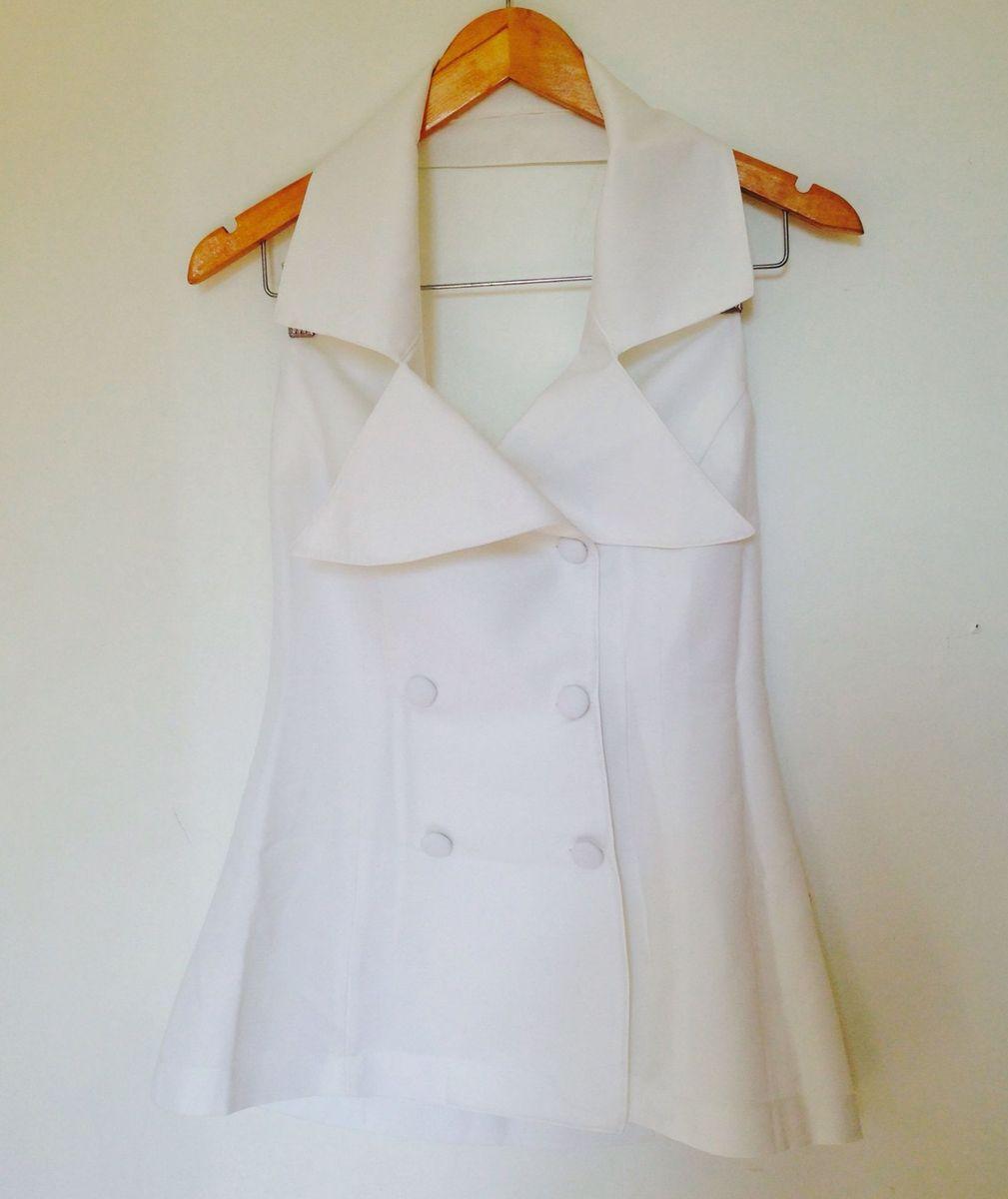 frente única crepe branca - blusas sem marca