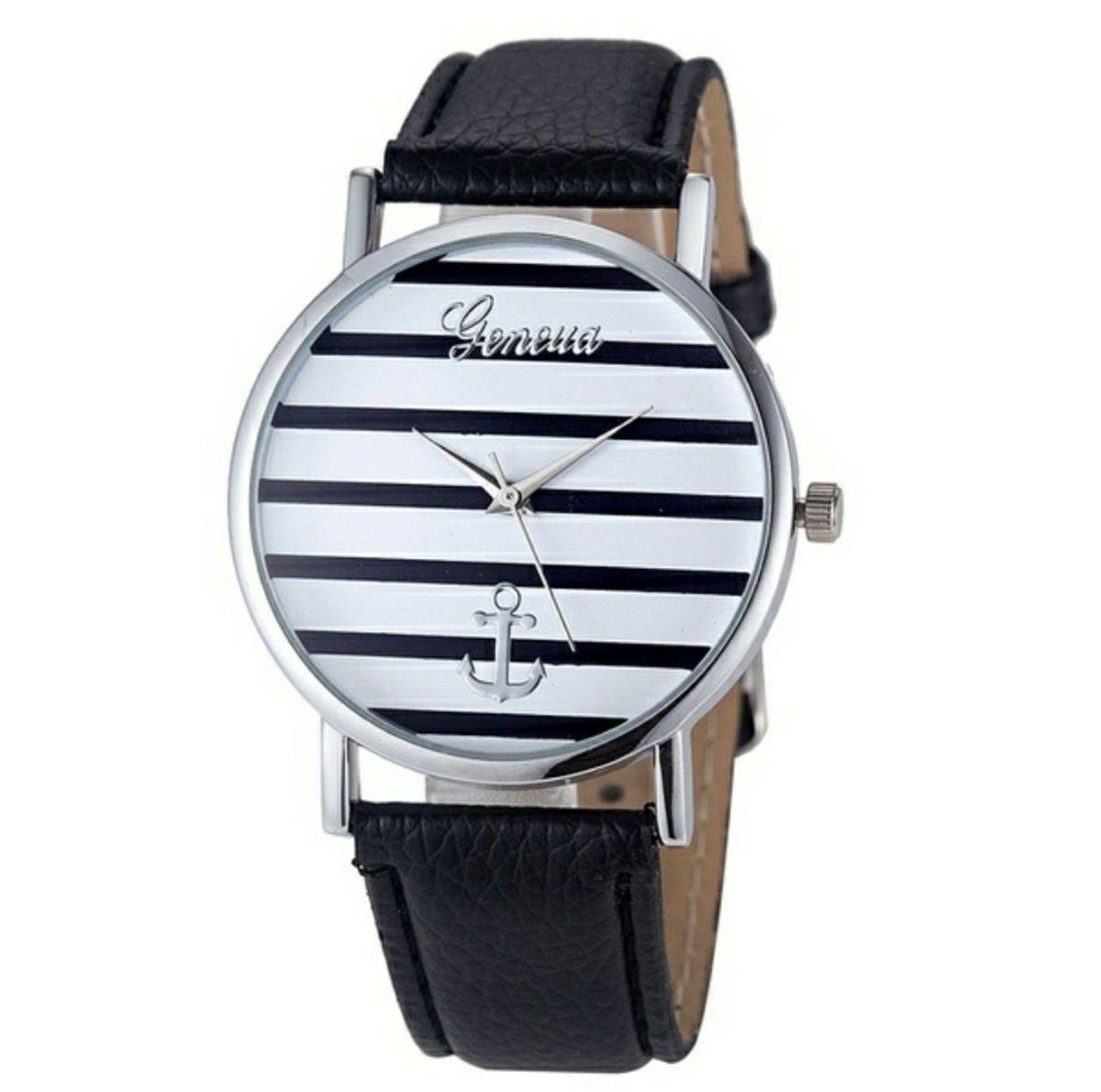 5c8d426b576 frete grátis - relógio geneva feminino pulseira em couro - relógios geneva
