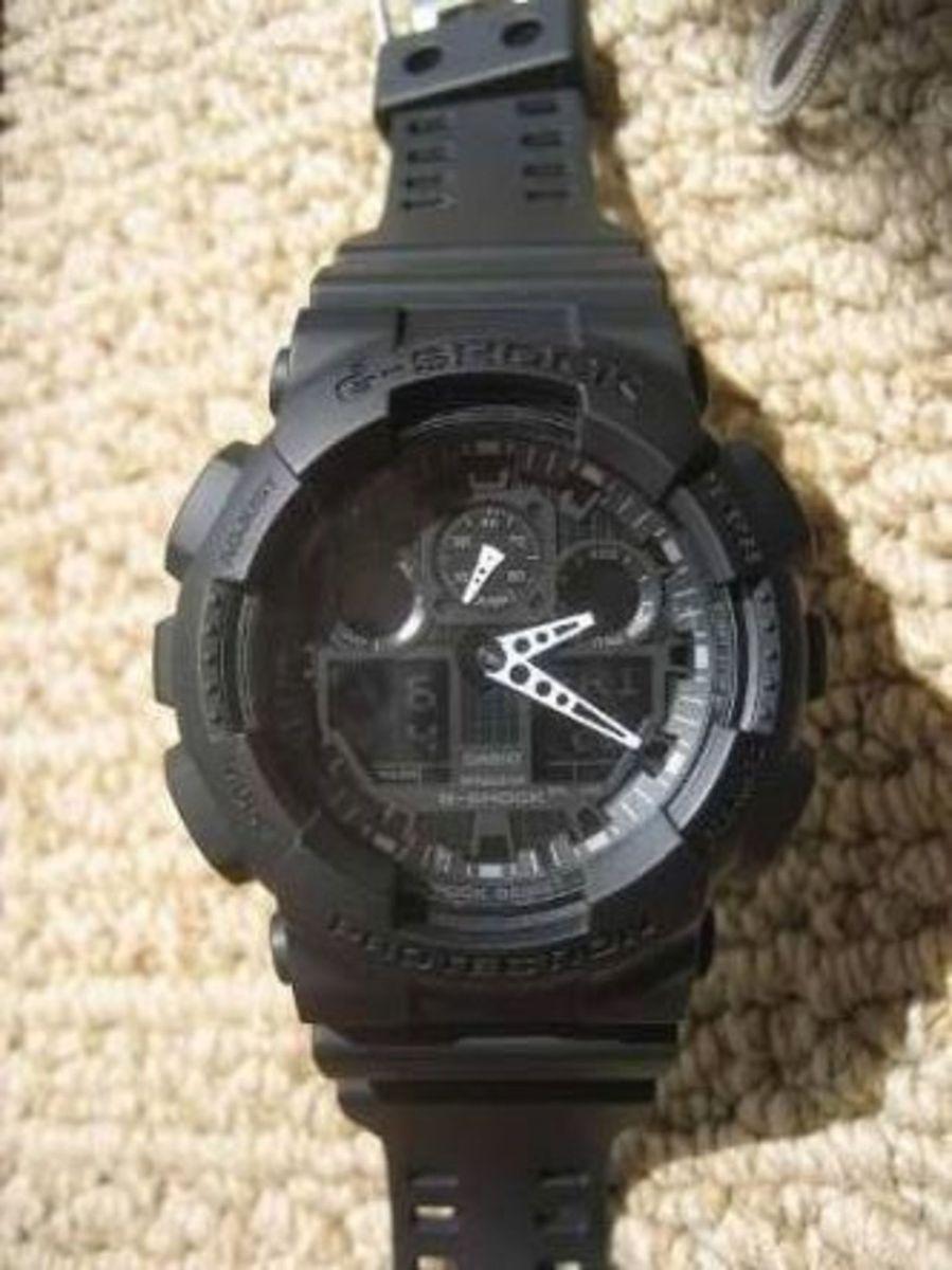 a38e0a0a43f ... G Shock Ga 100 Black 1 1 Rel gio Masculino Casio Nunca Usado