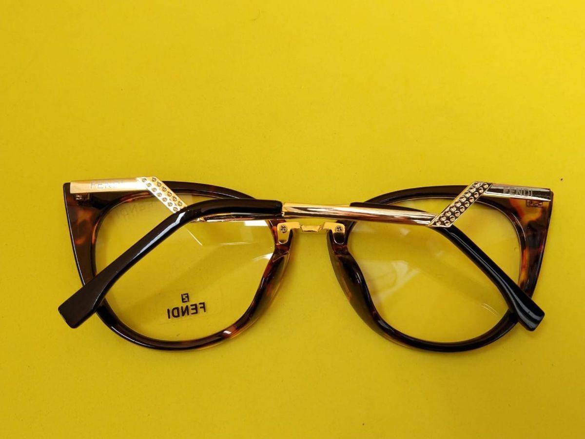 49b7dee33325b Gatinho Fendi Armação Óculos Grau Feminino Tartaruga   Óculos Feminino  Fendi Nunca Usado 30227205   enjoei