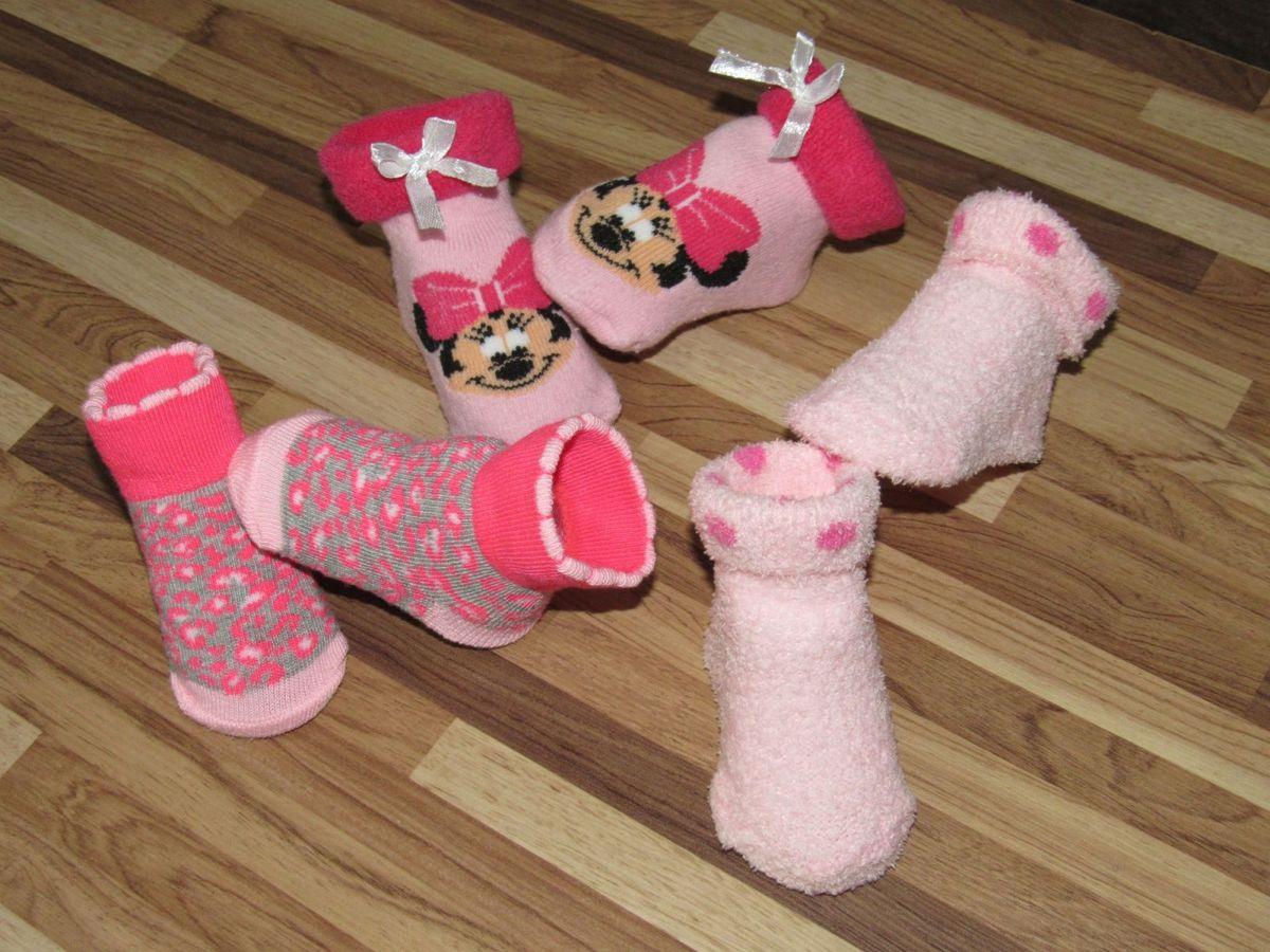gerber - kit 3 pares de meias todas com detalhes para bebê 0-3 meses importado - bebê gerber