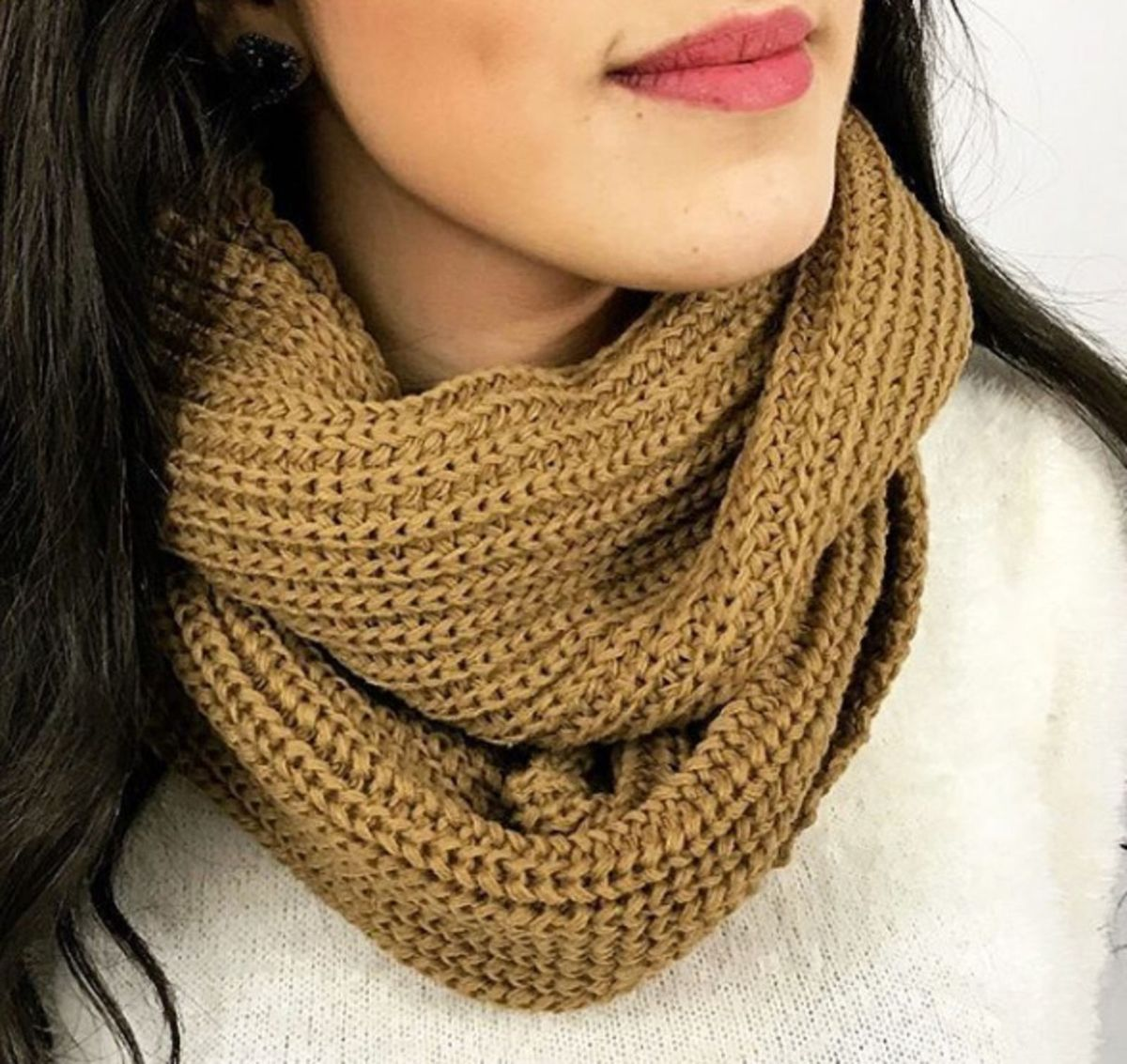 lenço gola tricot - lenços sem marca