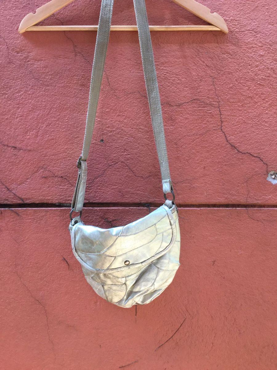 goldinha bolsa de couro dourada - ombro australiana
