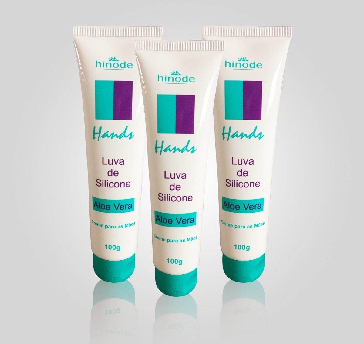 hands luvas de silicone - creme para mãos hinode - cosméticos hinode
