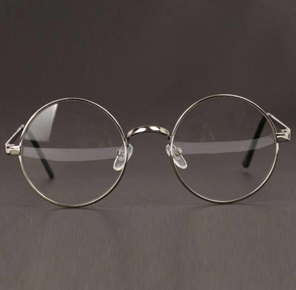 armação óculos lentes redondas estilo harry potter cor prata - óculos otto  store 81ce41f35c