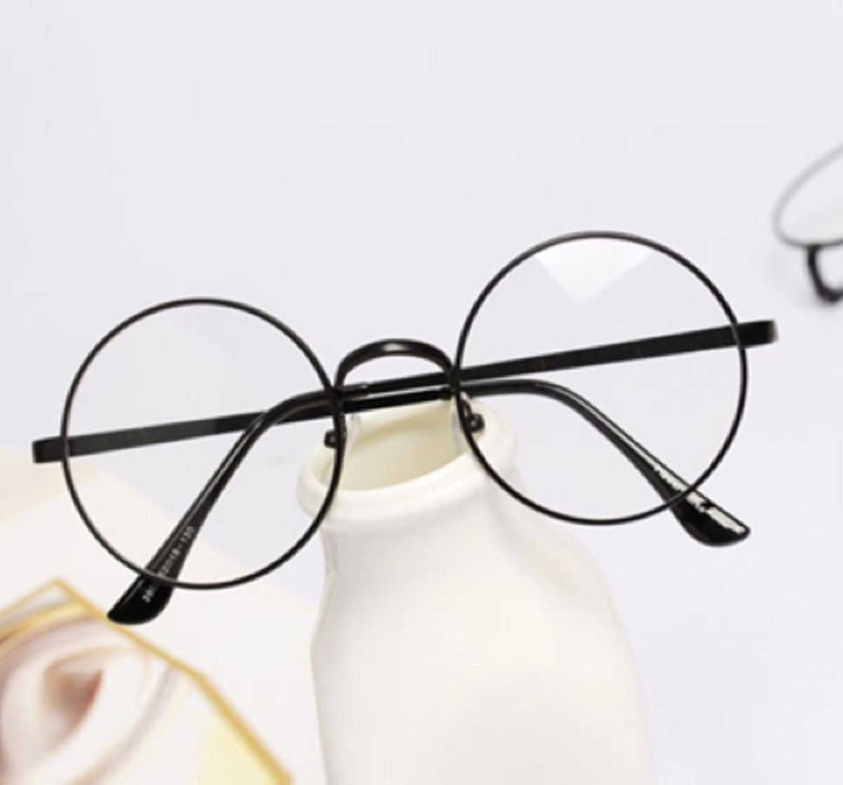 657152c48c08c armação óculos estilo harry potter em metal preto com lentes redondas 5mm -  óculos otto store