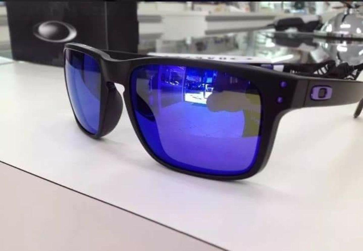 Holbrook Azul Espelhado da Oakley Polarizado   Óculos Masculino Oakley  Nunca Usado 31700451   enjoei 1b3e7be0a4