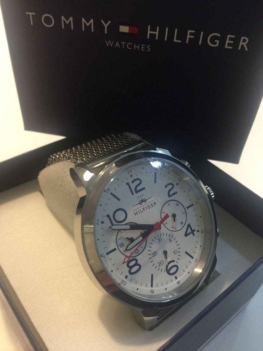 fe8cc531624 impecável relogio tommy hilfiger masculino em aço - relógios tommy-hilfiger