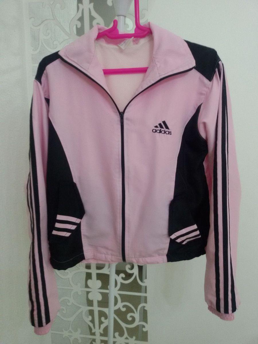 0a54122ccc ... 95008dfb530 jaqueta adidas rosa e preto - casaquinhos adidas.