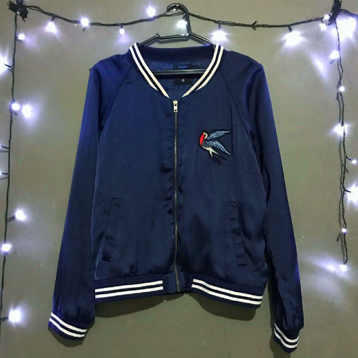 jaqueta azul - casaquinhos marisa