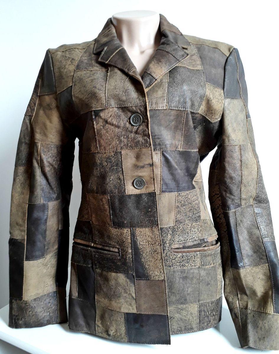 43f15c1e239 jaqueta blazer feminina marrom 100% couro julian marcuir - casaquinhos julian  marcuir