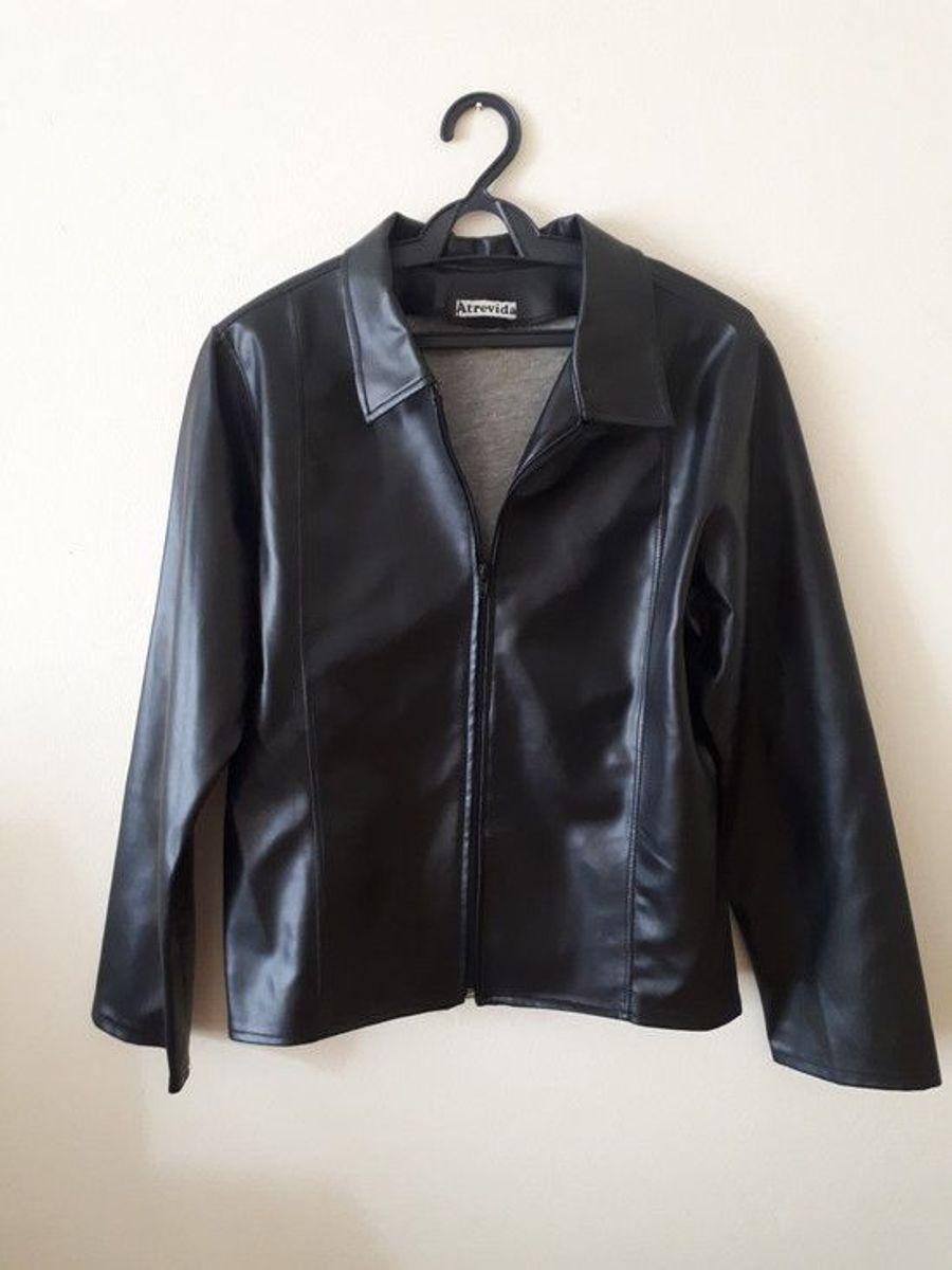 jaqueta couro preta - casaquinhos atrevida