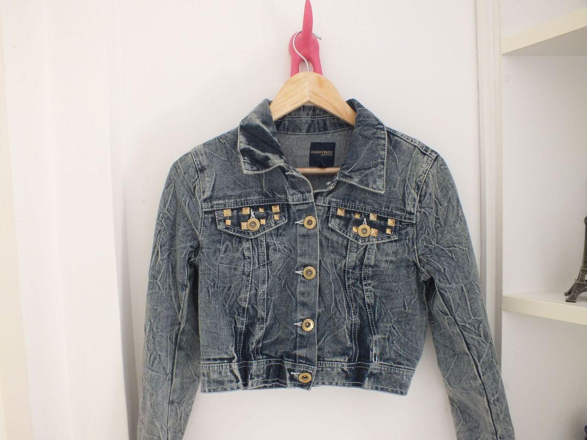jaqueta jeans curta, dia de rock bebê - casaquinhos wet seal