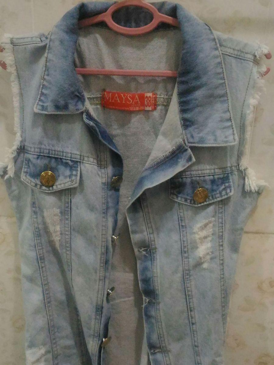 jaqueta jeans rock - casaquinhos sem marca