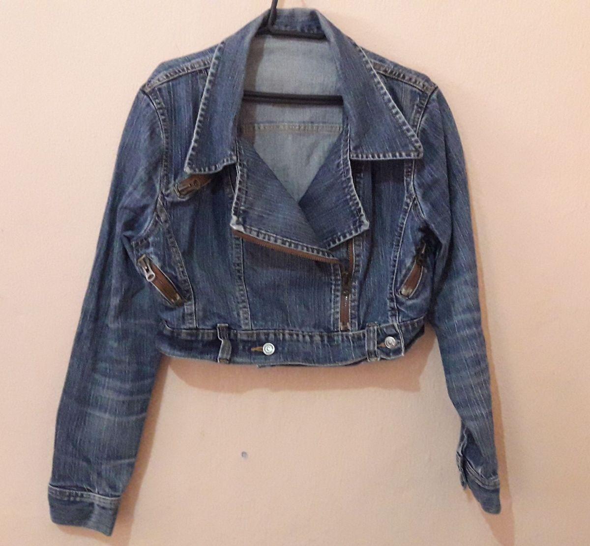 jaqueta jeans traxy - casaquinhos traxy