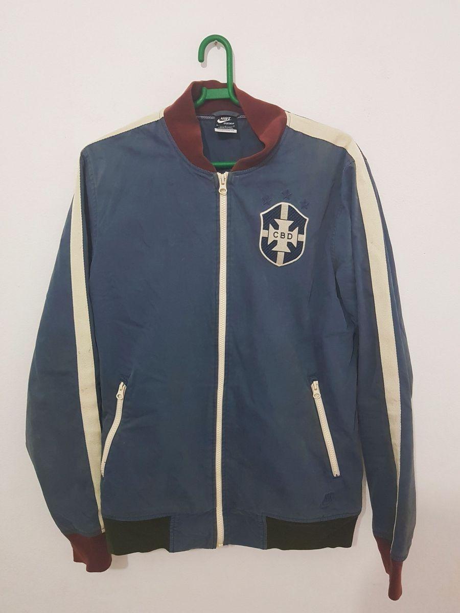 jaqueta nike seleção brasileira retrô - casacos nike e3ed193cb7f22