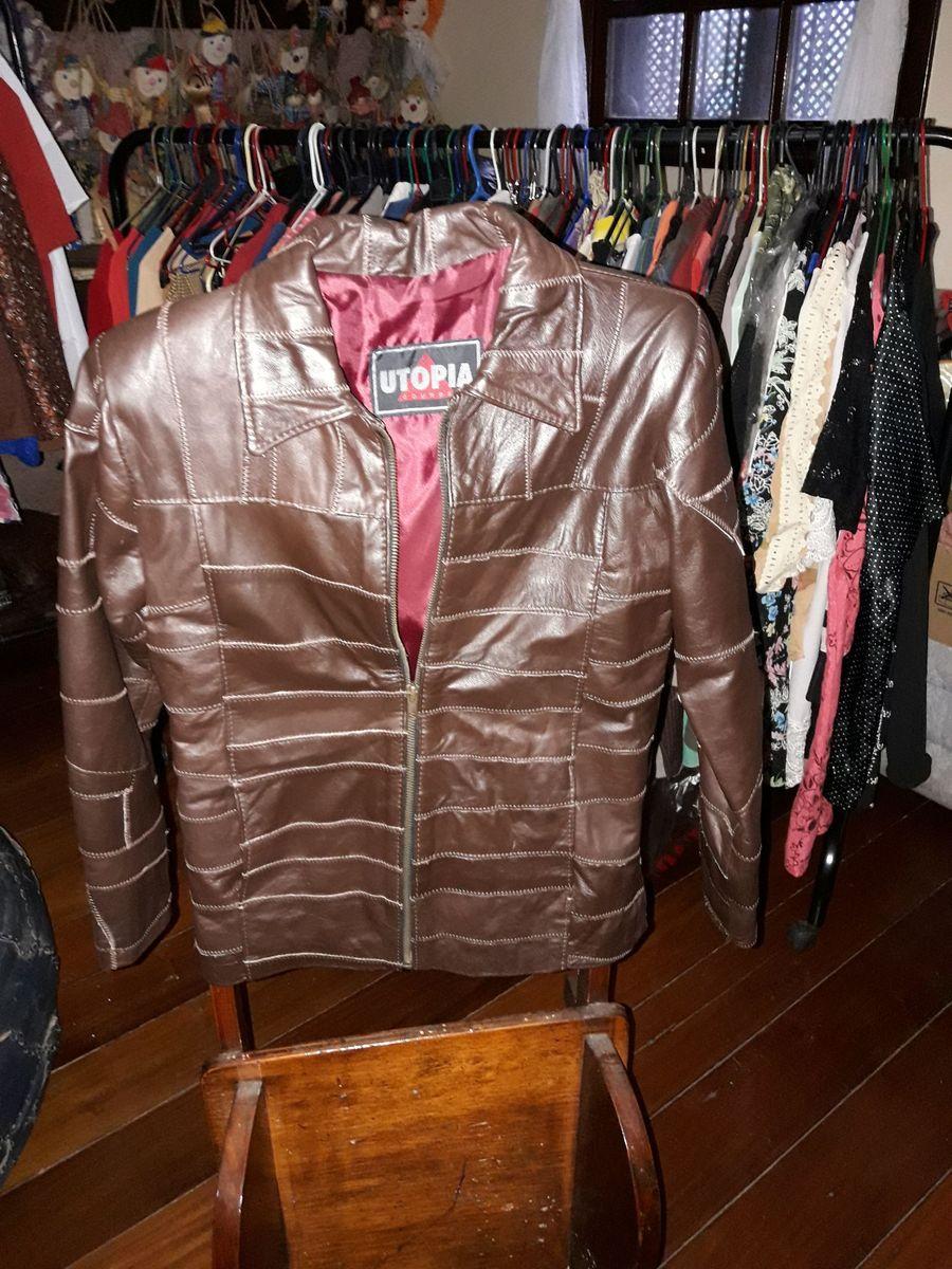 d3930d522 jaqueta nova de couro legítimo marca utopia couros tamanho p - casaquinhos  utopia couros